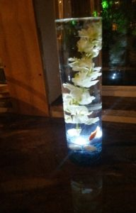 Wedding Center Piece Glass Vase and Flowers 01