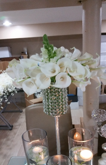 Wedding Center Pieces Flowers Crystal 01