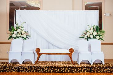 Wedding Pipe and Drape - Bridal Veil Ceremony